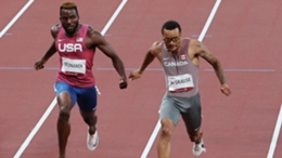 Andre De Grasse wins the men's 200m at Tokyo 2020