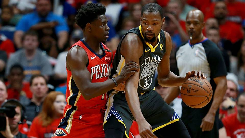 NBA playoffs wrap 2018: Kevin Durant leads Warriors win; Rockets' defense dominates again