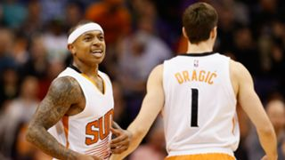 Former Suns guards Isaiah Thomas, Goran Dragic