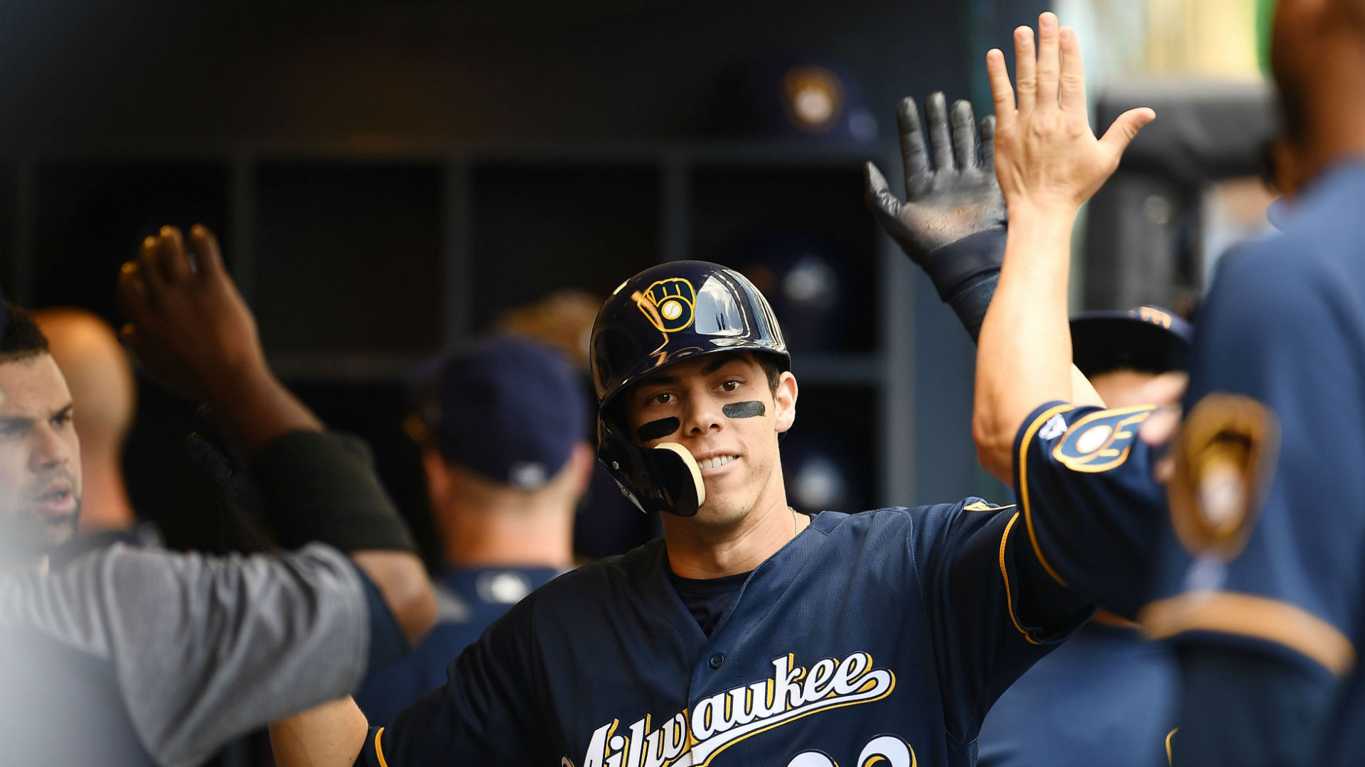 Prince, Cecil Fielder amazed by Christian Yelich: 'There's nowhere to get him out'