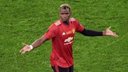 Paul Pogba reacts during the Europa League final.