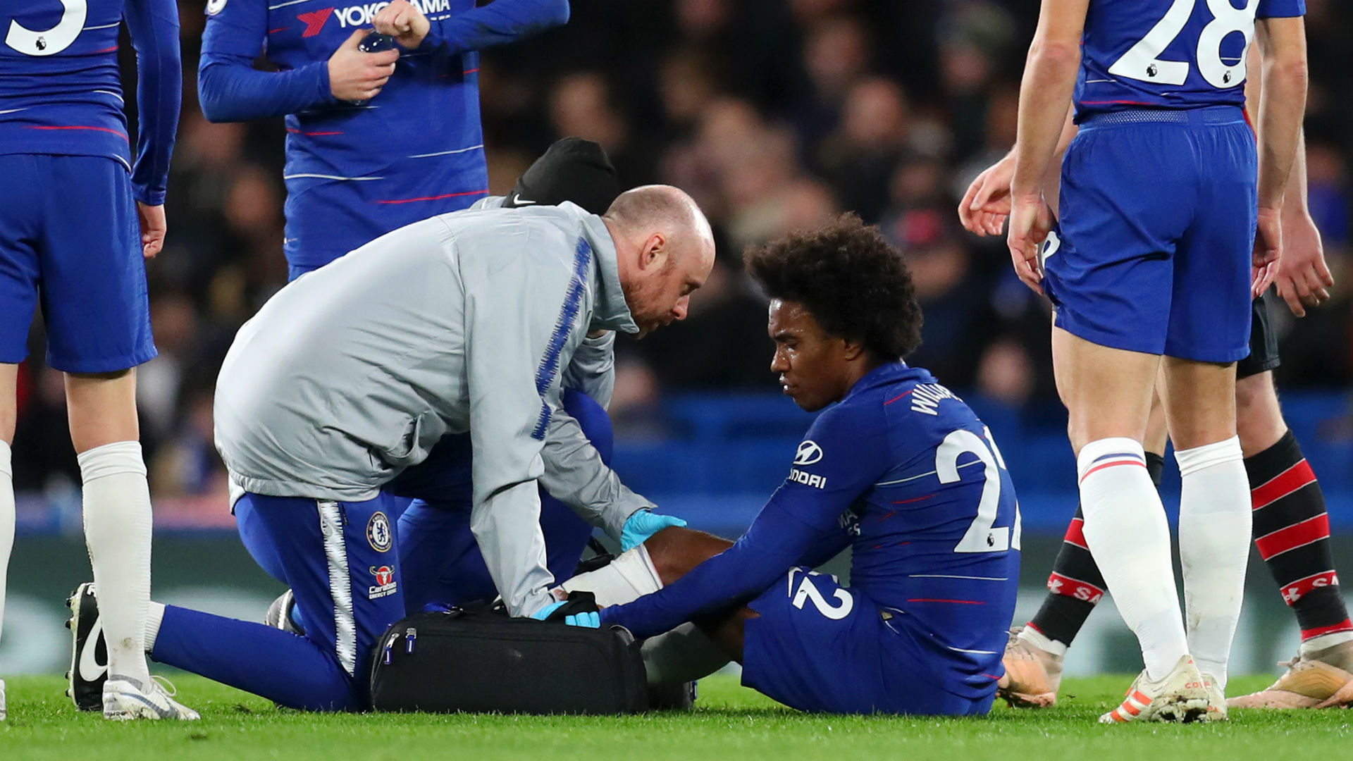 Image result for Willian injury Chelsea
