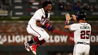 Ronald Acuna Jr. (left) and Tyler Flowers