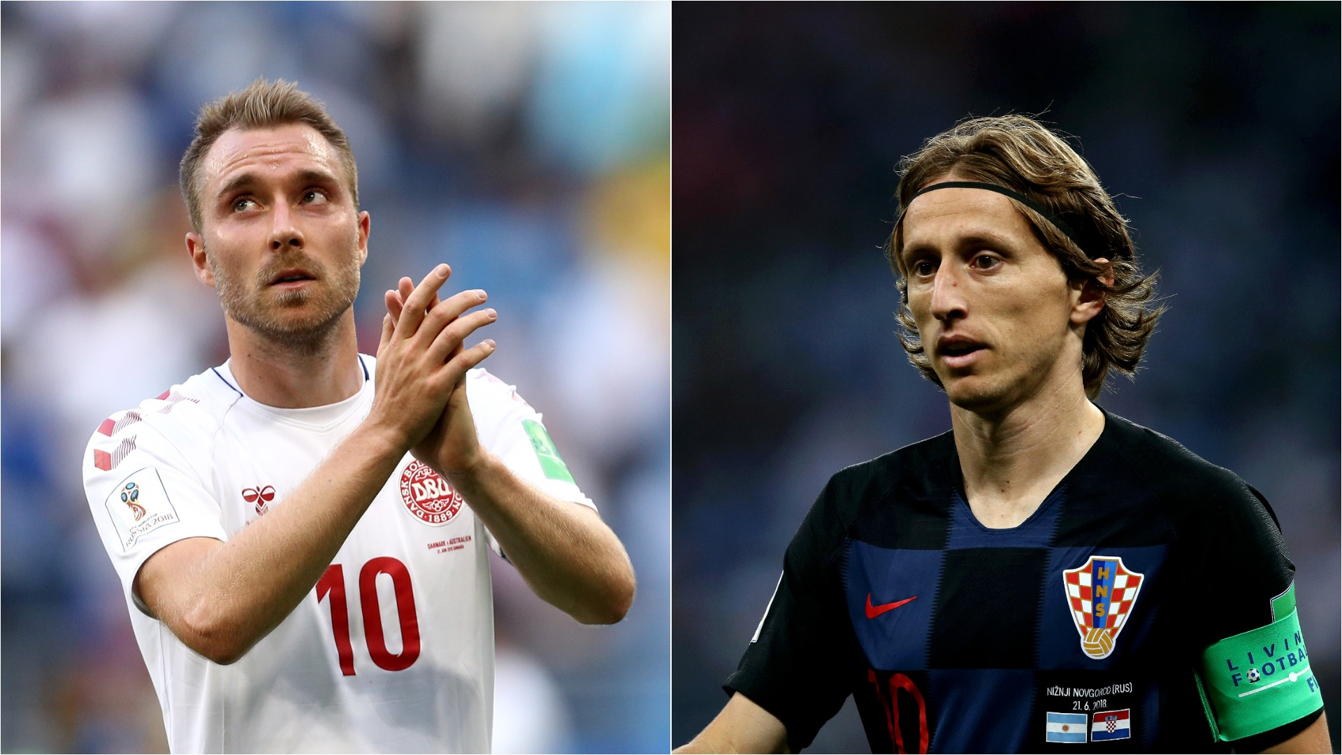 Modric misses penalty CRO 1 DEN 1