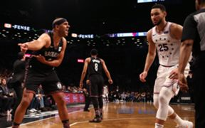 Jared Dudley (left) and Ben Simmons