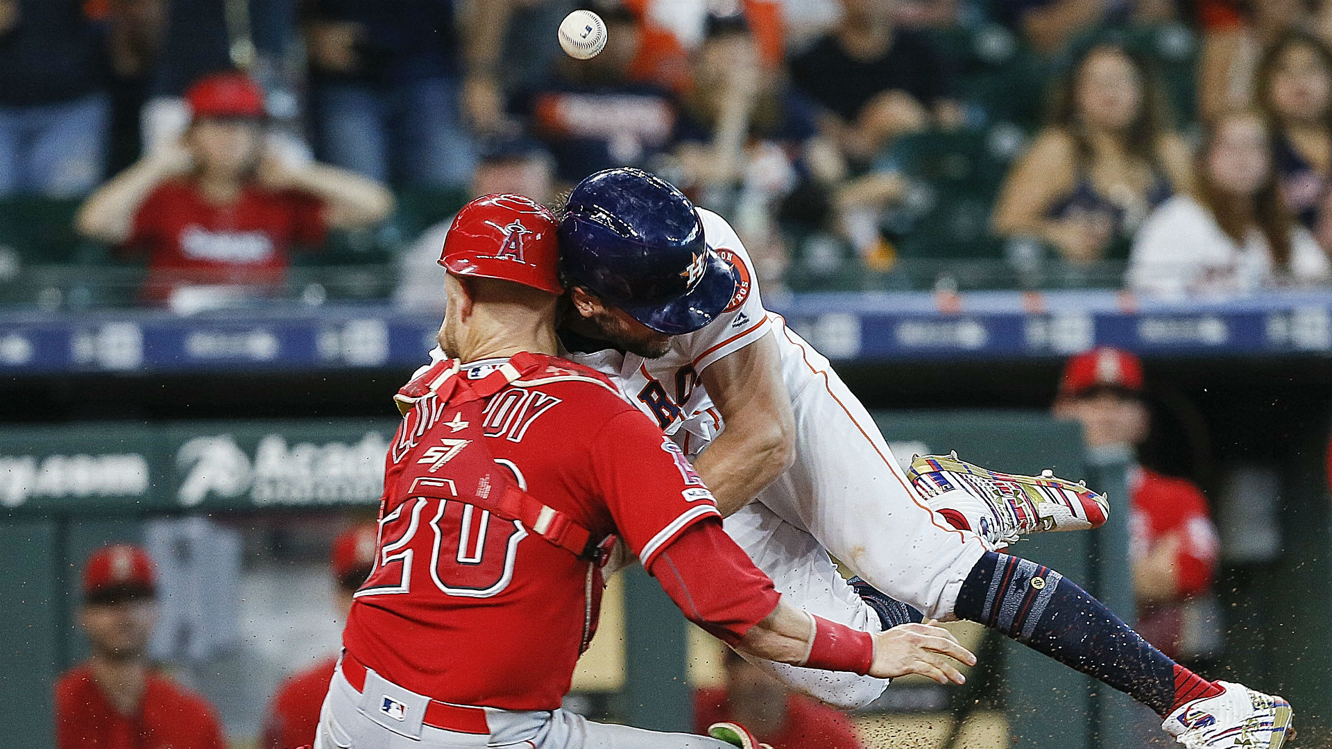 Astros' Jake Marisnick appealing 2-game suspension for scary head-on collision