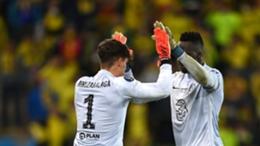 Kepa Arrizabalaga and Edouard Mendy