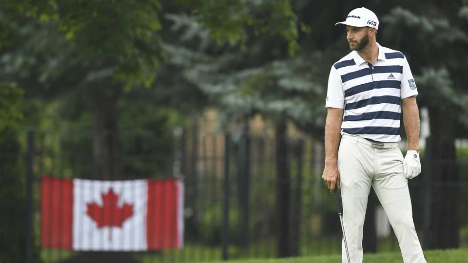 Look: Dustin Johnson dons Wayne Gretzky jersey at Canadian Open pro-am
