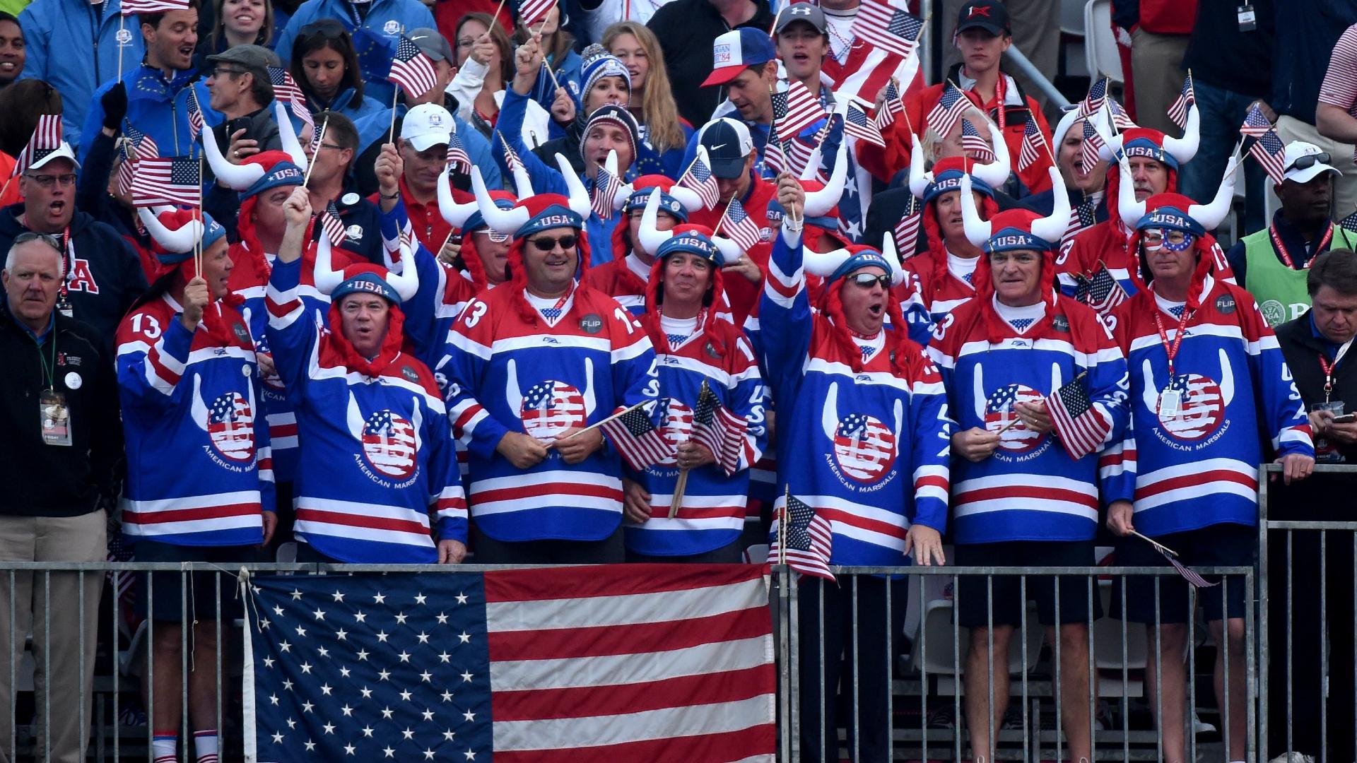 USA fans at Hazeltine in 2016