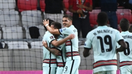 Otavio scored his first goal for Portugal on his first appearance