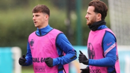 Mason Mount and Ben Chilwell in England training