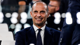 Head coach of Juventus Massimiliano Allegri looks on prior to the UEFA Champions League group H match between Juventus and Chelsea FC at Allianz Stadium