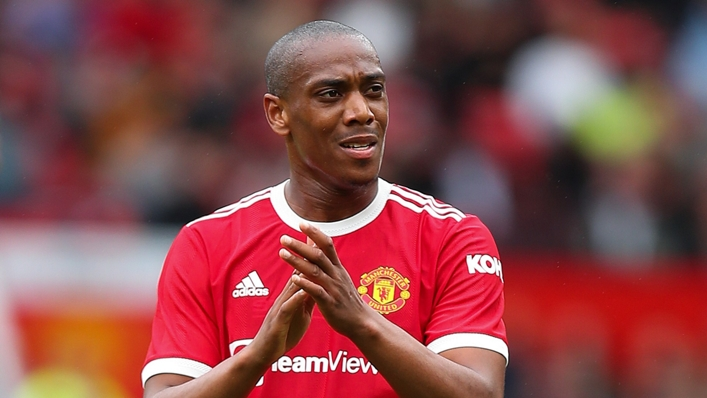 Anthony Martial returned to action against Everton