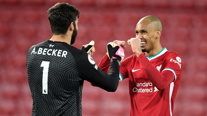 Liverpool are likely to miss Alisson and Fabinho against Watford