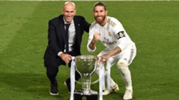 Zinedine Zidane and Sergio Ramos during their time at Real Madrid