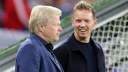 Julian Nagelsmann (R) with Bayern Munich CEO Oliver Kahn (L)