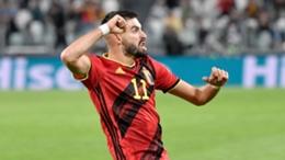 Yannick Carrasco celebrates his goal against France