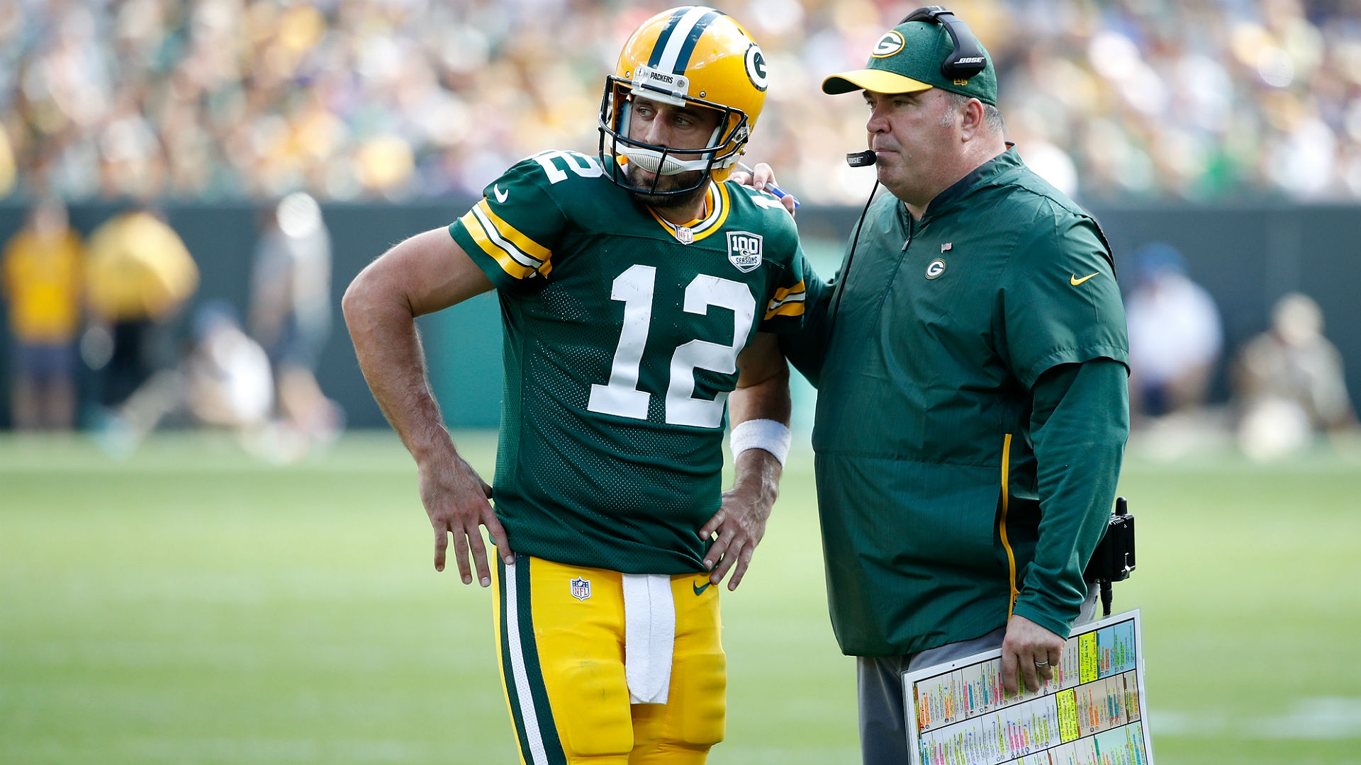 Former Packers coach Mike McCarthy applauded by team after final speech