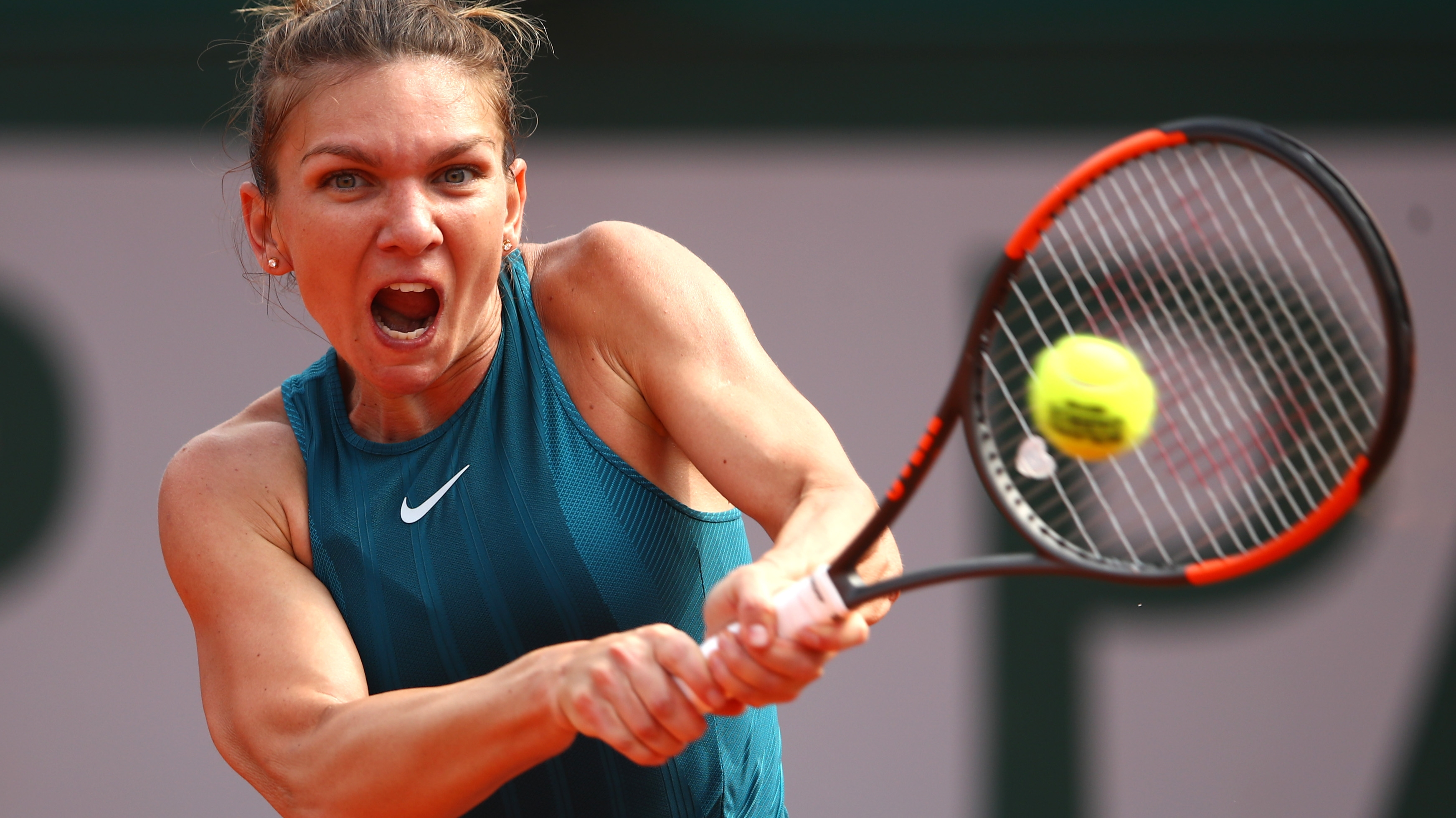 Image result for Simona Halep beats Sloane Stephens at the French Open to Win First Grand Slam