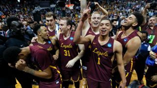 Loyola-Chicago players celebrate
