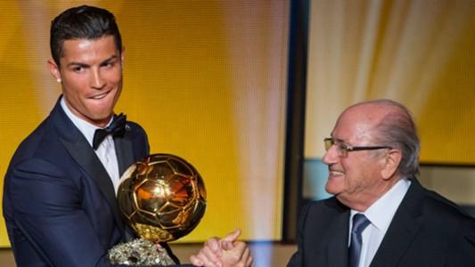 Cristiano Ronaldo Sepp Blatter - cropped