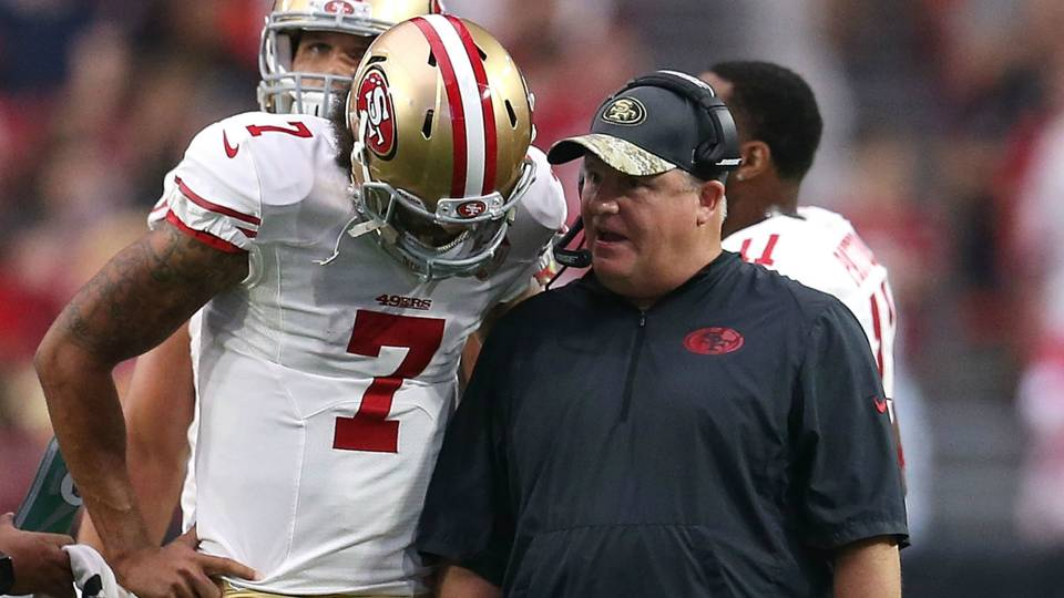 Former 49ers coach Chip Kelly passionately defends Colin ...