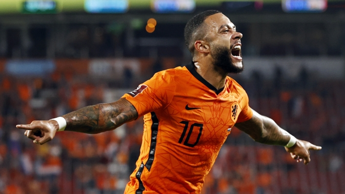 Memphis Depay impressed for the Netherlands against Montenegro