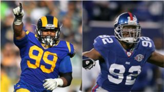 Aaron Donald and Michael Strahan - cropped