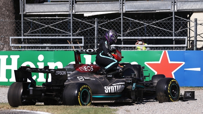 Lewis Hamilton walked away from his crash with Max Verstappen