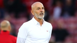 Stefano Pioli at Anfield, where Milan lost 3-2 on Wednesday