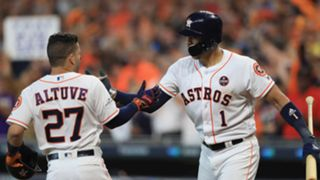 Jose Altuve (left) and Carlos Correa (right)