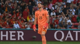 Spain goalkeeper Unai Simon failed to control Pedri's backpass