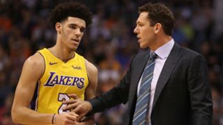 Lonzo Ball and Luke Walton