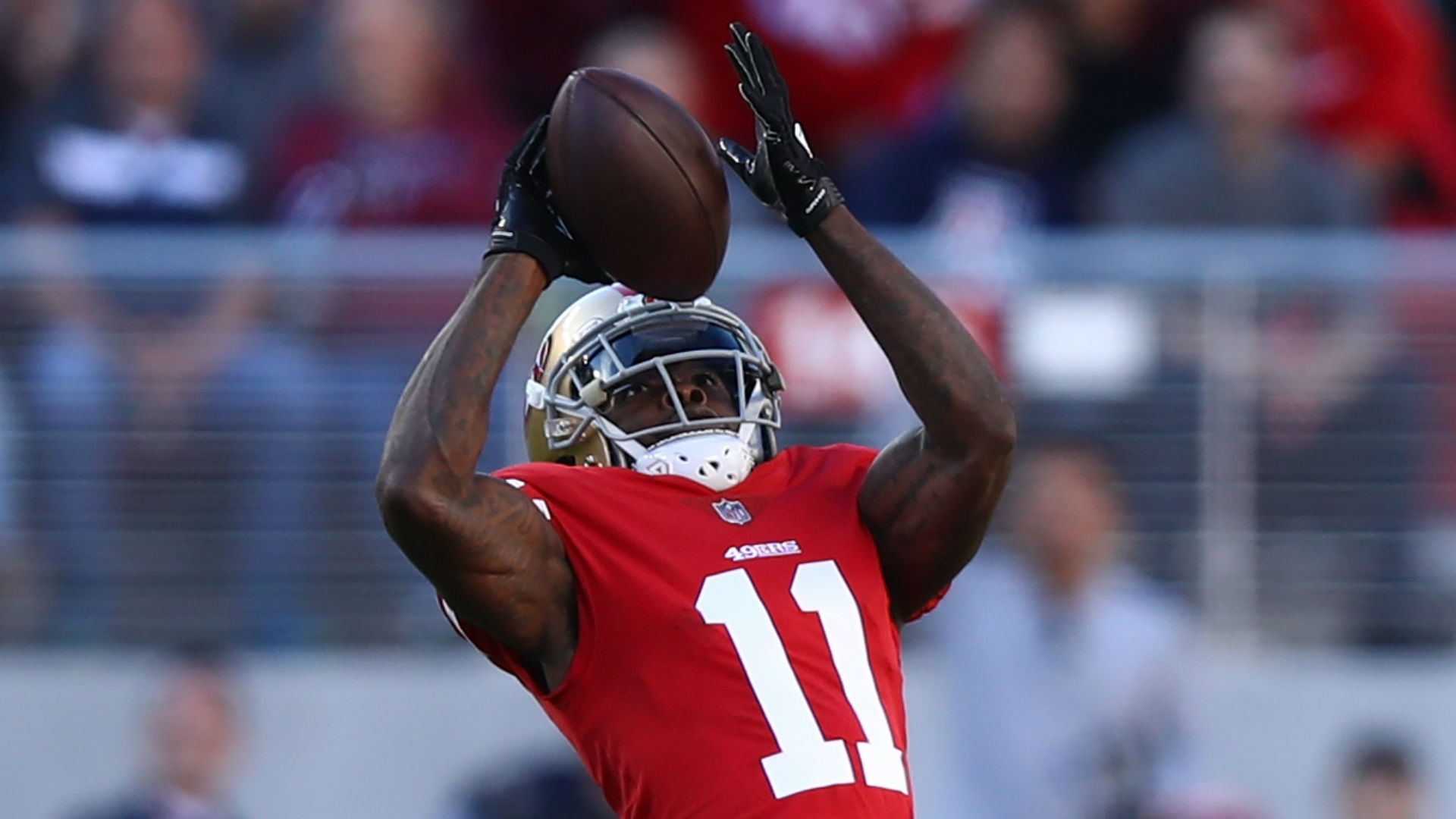 Marquise Goodwin helps 49ers to emotional win after baby son's death