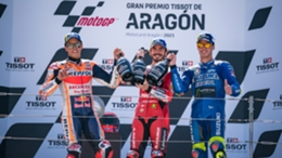 Francesco Bagnaia topped the podium at Aragon