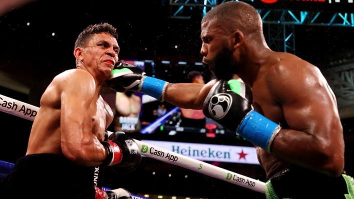 Badou Jack (R) in action against Dervin Colina (L)