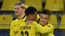 Borussia Dortmund stars (l-r) Erling Haaland, Jude Bellingham and Jadon Sancho