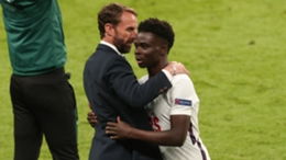Bukayo Saka was man of the match in England's win over the Czech Republic
