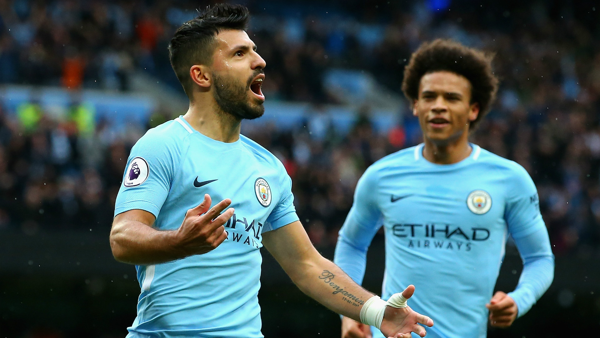 Sergio Aguero breaks Manchester City goalscoring record against Napoli