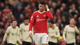 Cristiano Ronaldo during Manchester United's loss to Liverpool