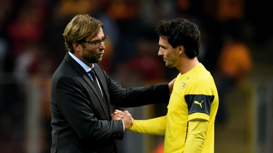 Jurgen Klopp and Mats Hummels