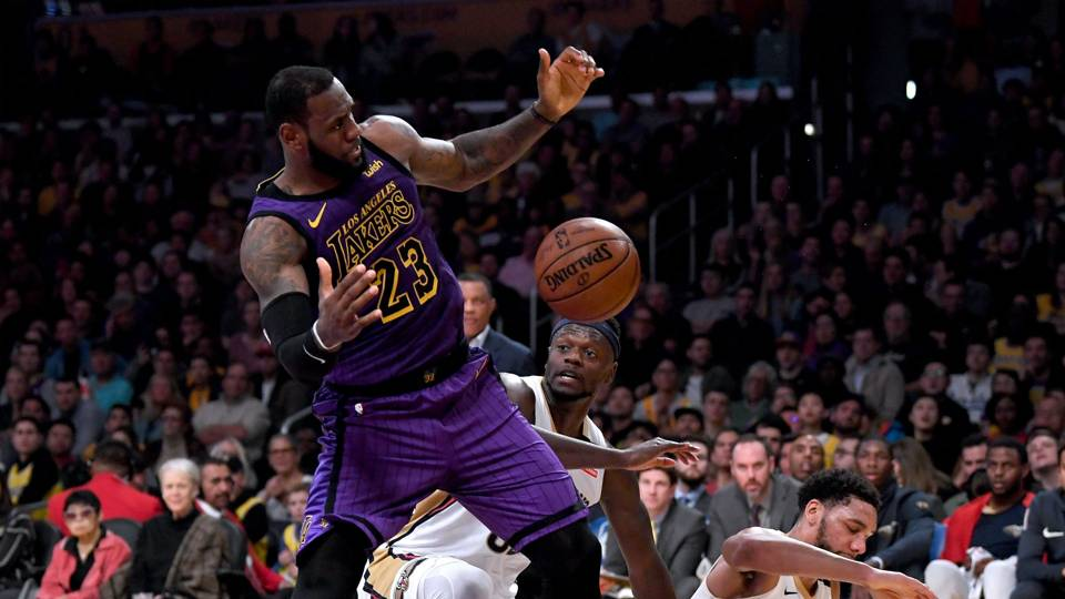 NBA wrap: LeBron James's triple-double helps Lakers topple Pelicans