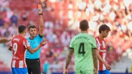 Joao Felix is sent off against Athletic Bilbao