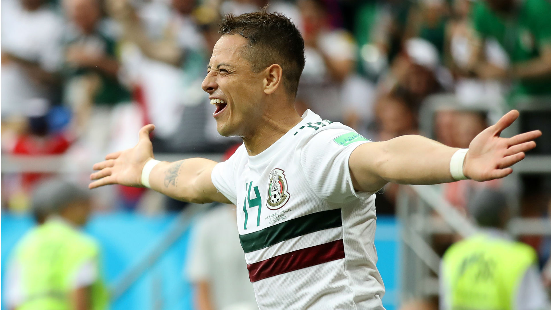 Chicharito records history with strike against South Korea