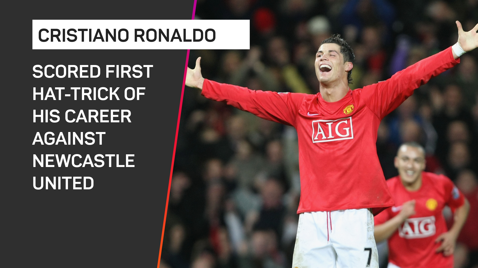 Cristiano Ronaldo scored his first hat-trick against Newcastle United