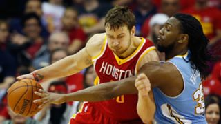 Rockets forward Donatas Motiejunas