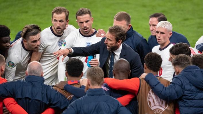 Gareth Southgate and his England squad