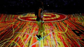 Atlanta Hawks' court projection