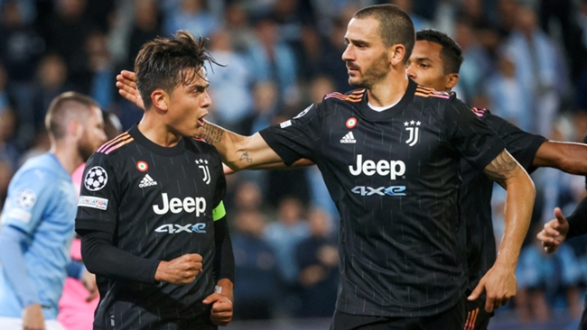 Paulo Dybala celebrates scoring for Juventus as the Serie A outfit coast to victory against Malmo