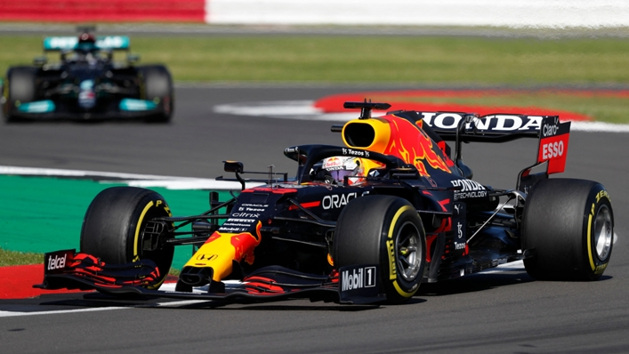 Max Verstappen's Red Bull before Sunday's crash with Lewis Hamilton